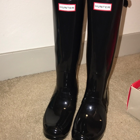 Black Hunter adjustable calf rain boots (gloss) 9f4a5b6509